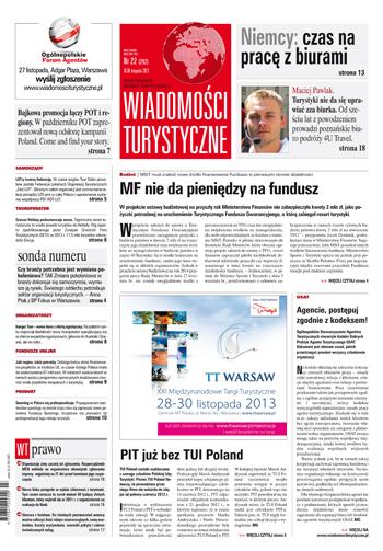 Wiadomości Turystyczne - dwutygodnik - prenumerata kwartalna już od 7,67 zł